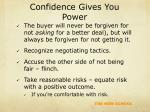confidence gives you power