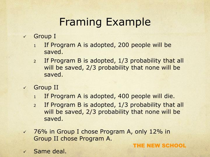 Framing Example