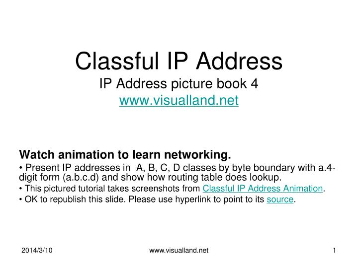 Classful ip address ip address picture book 4 www visualland net