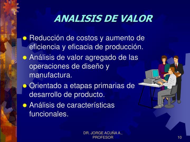 ANALISIS DE VALOR