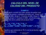 calculo del nivel de calidad del producto1