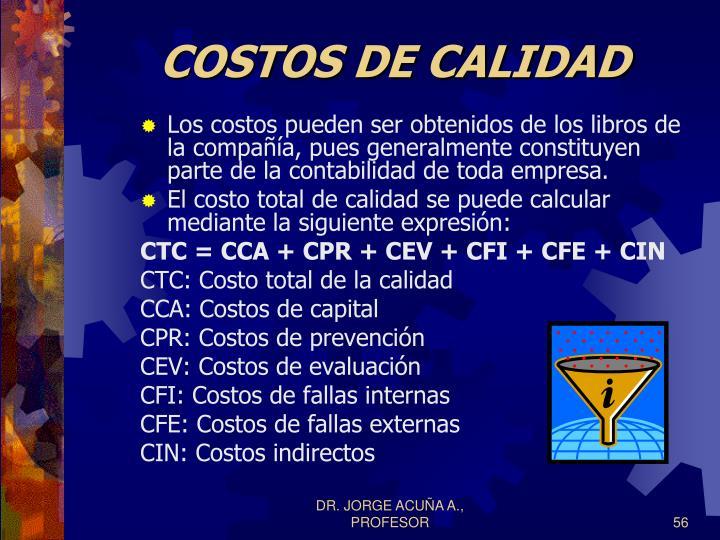 COSTOS DE CALIDAD