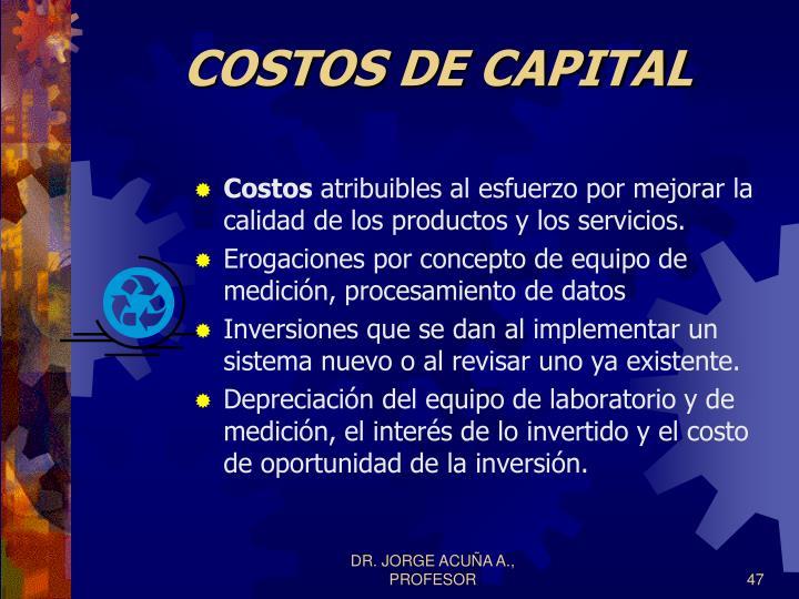 COSTOS DE CAPITAL