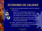economia de calidad