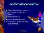 inspeccion preventiva