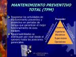 mantenimiento preventivo total tpm