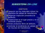 subsistema on line1
