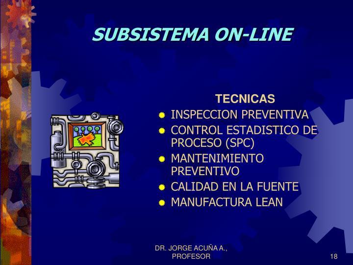 SUBSISTEMA ON-LINE