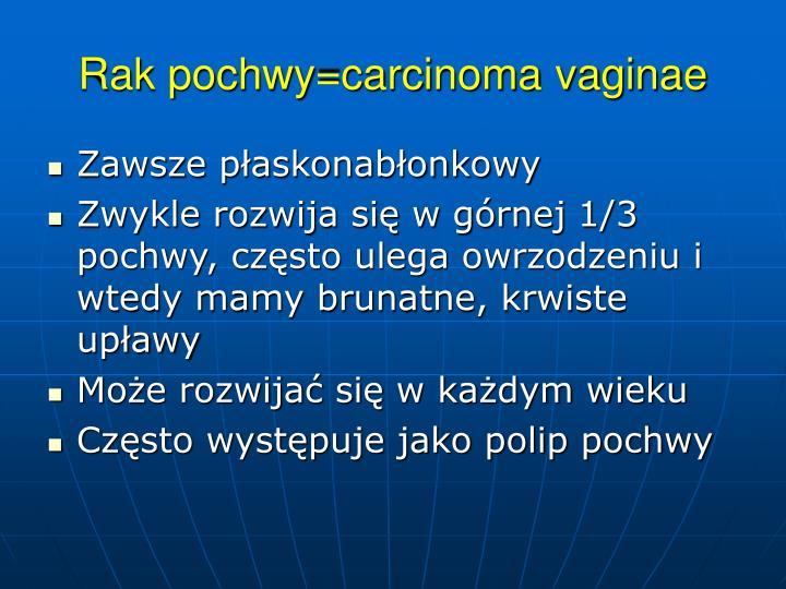 Rak pochwy=carcinoma vaginae