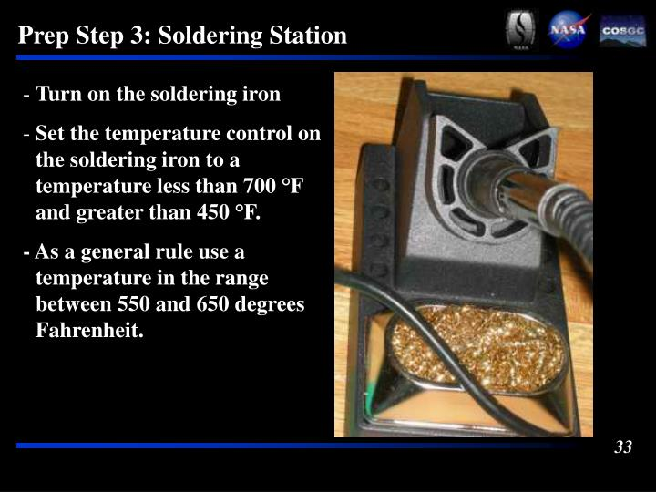 Prep Step 3: Soldering Station