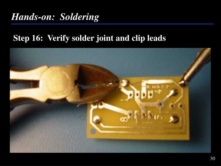 Hands-on:  Soldering