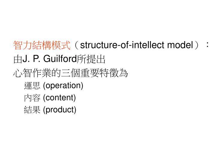 智力結構模式
