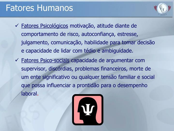 Fatores Humanos