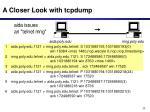 a closer look with tcpdump