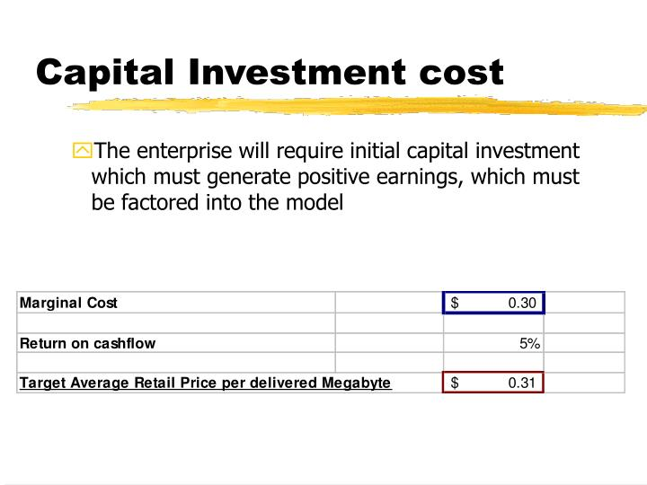 Capital Investment cost