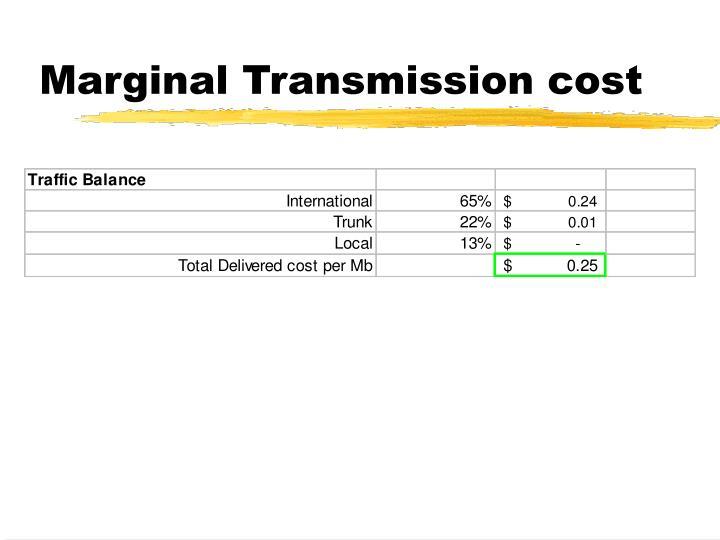 Marginal Transmission cost