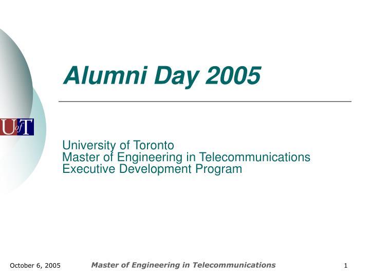 Alumni Day 2005