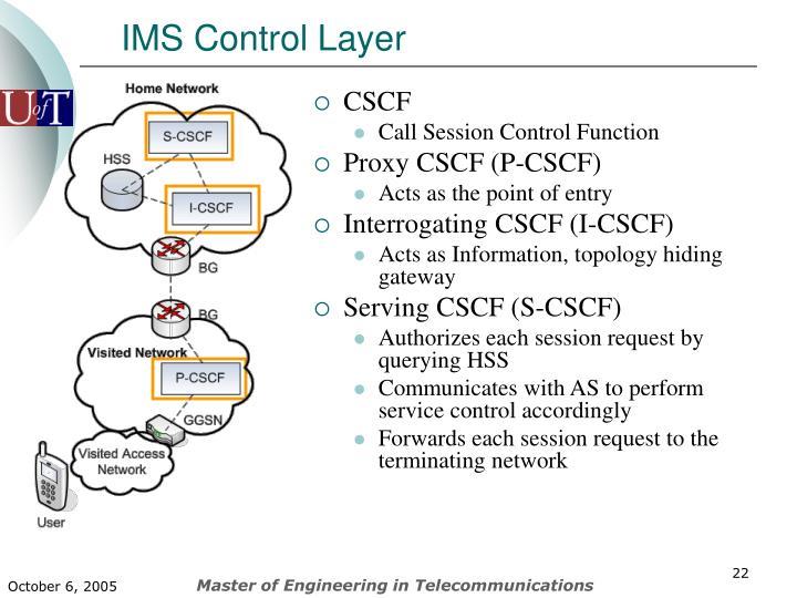 IMS Control Layer