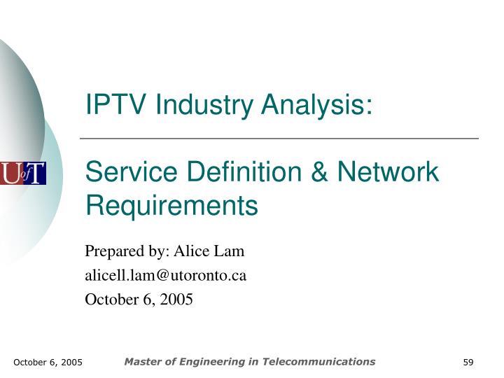 IPTV Industry Analysis: