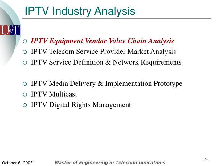 IPTV Industry Analysis