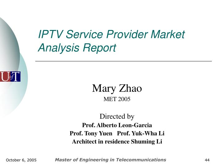 IPTV Service Provider Market Analysis Report