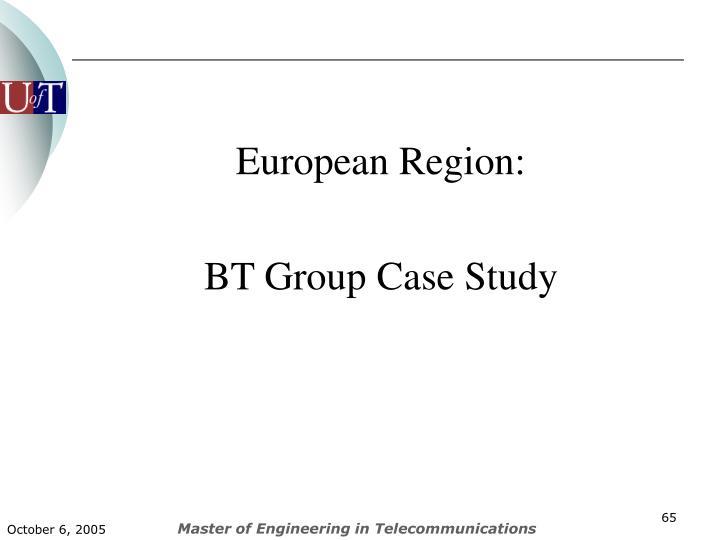 European Region: