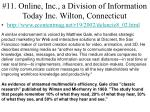 11 online inc a division of information today inc wilton connecticut