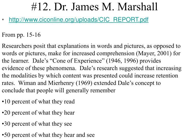 #12. Dr. James M. Marshall