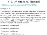 12 dr james m marshall