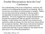 possible misconceptions about the cone 7 conclusions