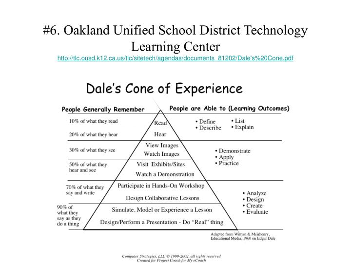 #6. Oakland Unified School District Technology Learning Center