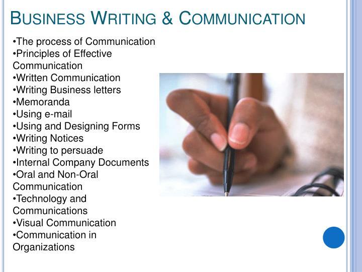 Business Writing & Communication