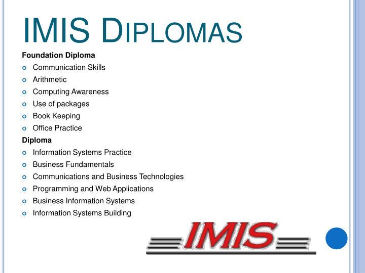 IMIS Diplomas