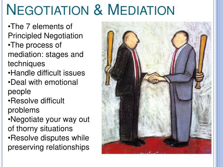 Negotiation & Mediation