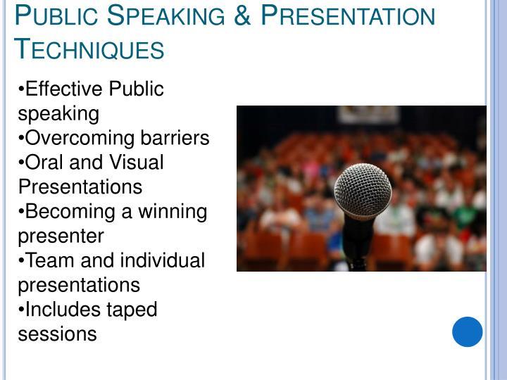 Public Speaking & Presentation Techniques