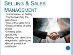 selling sales management