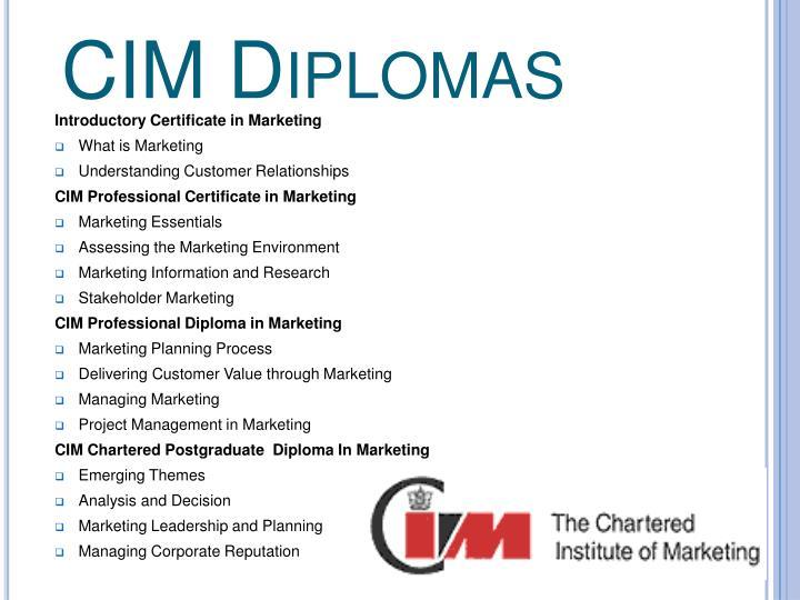 CIM Diplomas