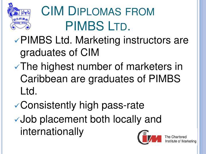 CIM Diplomas from