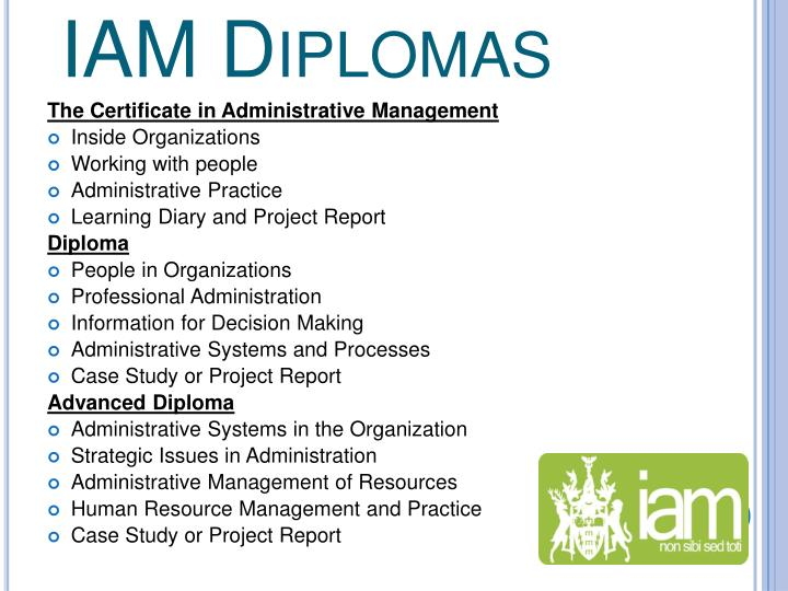 IAM Diplomas