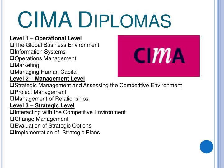 CIMA Diplomas