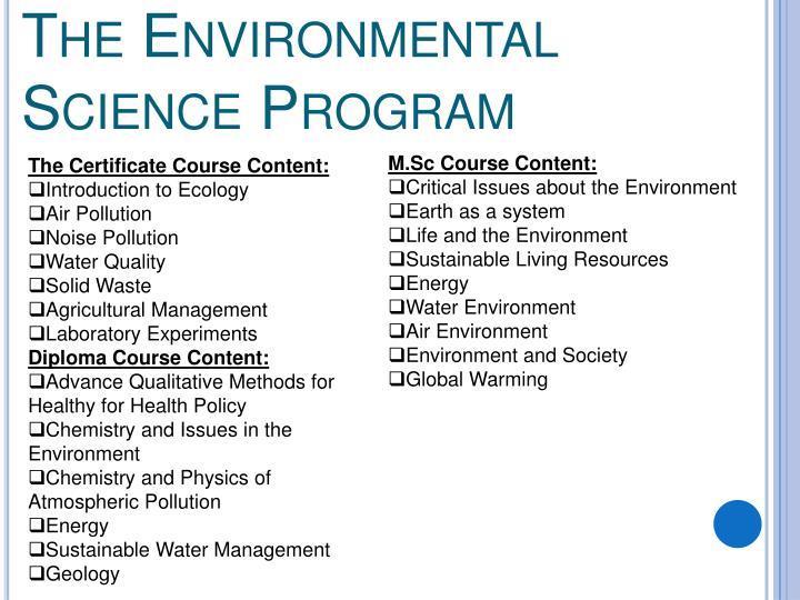 The Environmental Science Program