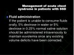 management of acute chest syndrome in patients with ssd3