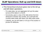 olap operations roll up and drill down1