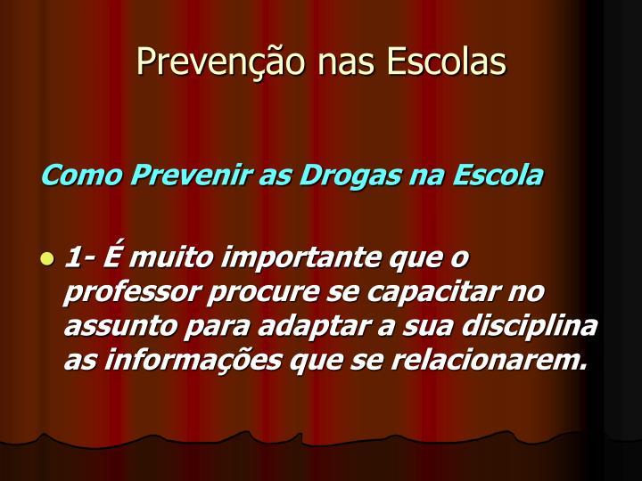 Prevenção nas Escolas