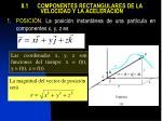 8 1 componentes rectangulares de la velocidad y la aceleraci n