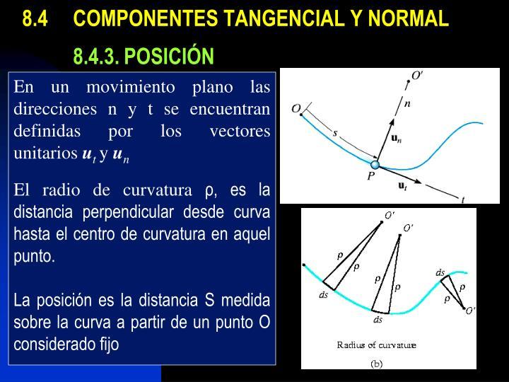 8.4COMPONENTES TANGENCIAL Y NORMAL