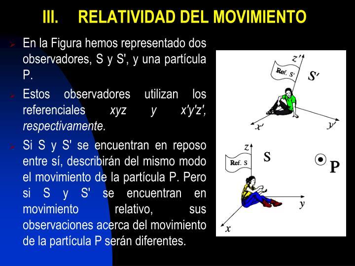 III.RELATIVIDAD DEL MOVIMIENTO