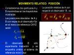 movimiento relatico posici n