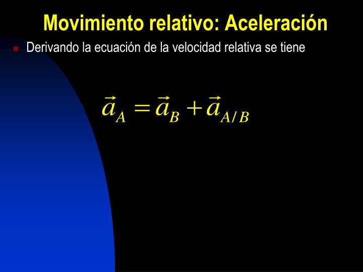 Movimiento relativo: Aceleración