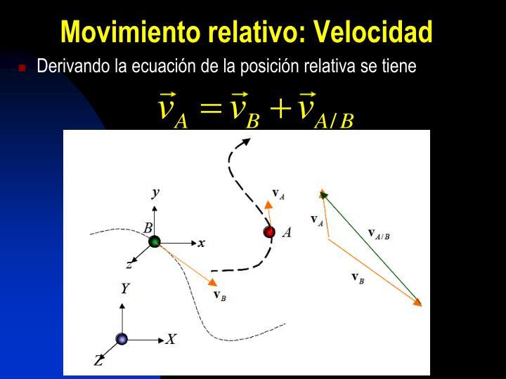 Movimiento relativo: Velocidad